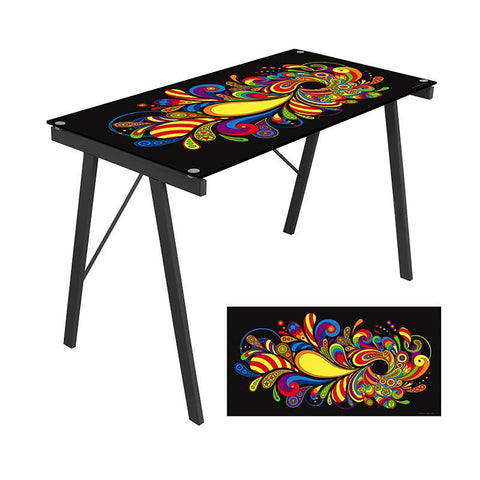 LumiSource OFD-TM-PGPSYCH Graphic Top Exponent Desk - Peazz.com