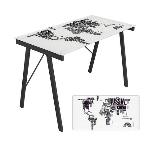 LumiSource OFD-TM-PGWORLD Graphic Top Exponent Desk - Peazz.com