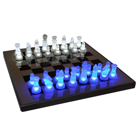 LumiSource SUP-LEDCHES-BW LED Glow Chess Set - Peazz.com