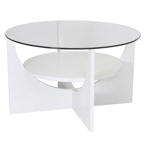 LumiSource TB-CTU W U-Shaped Coffee Table - Peazz.com