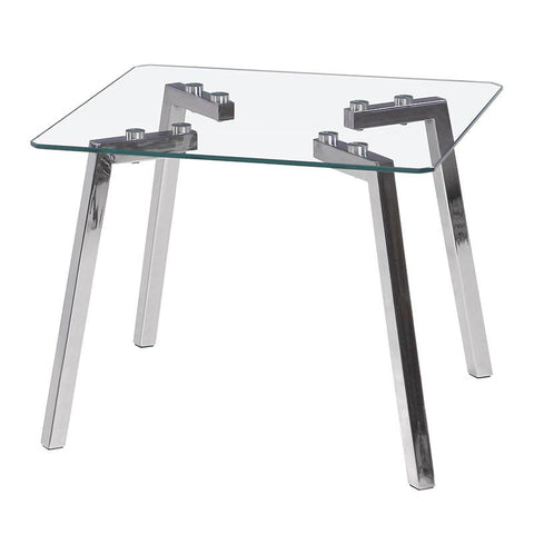LumiSource TB-ETGLCR CL Glacier End Table - Peazz.com