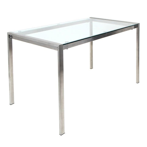 LumiSource TB-FUJI4728 CL Fuji Dining Table - Peazz.com
