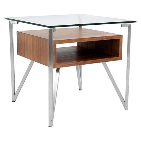 LumiSource TB-HVR-ET WL Hover End Table - Peazz.com