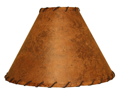 Stone County Ironworks 900-051 Rawhide Floor Lamp Shade w/ Leather Trim (6x22x12.5) - Peazz.com