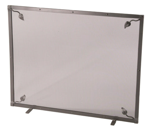 Stone County Ironworks 900-340 Leaf Single Panel Fire Screen with feet - Peazz.com