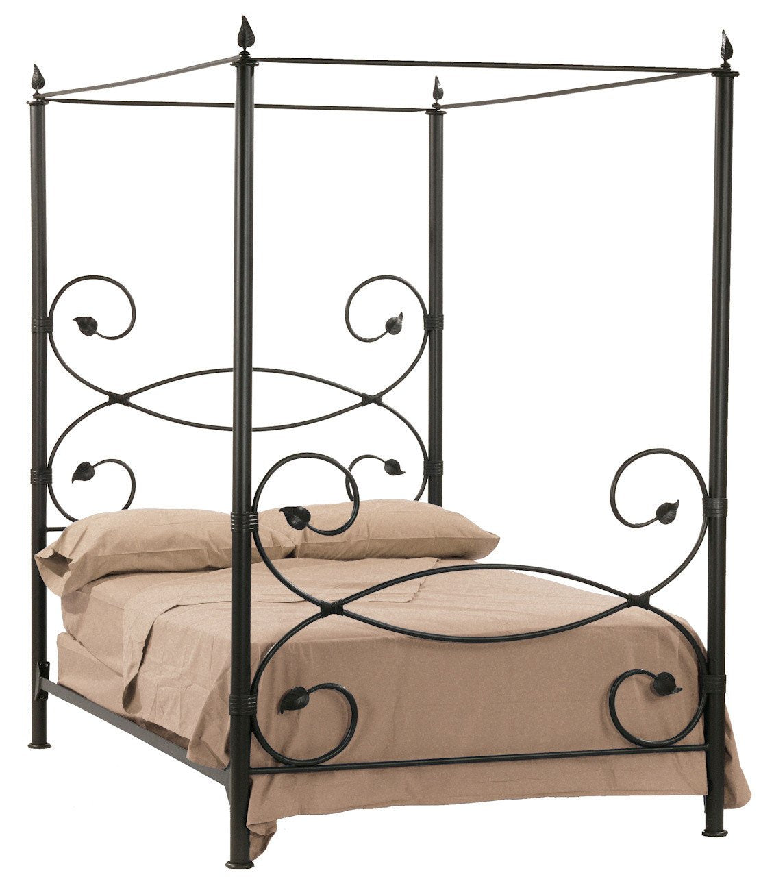 Stone County Canopy Twin Bed Leaf Bed Image