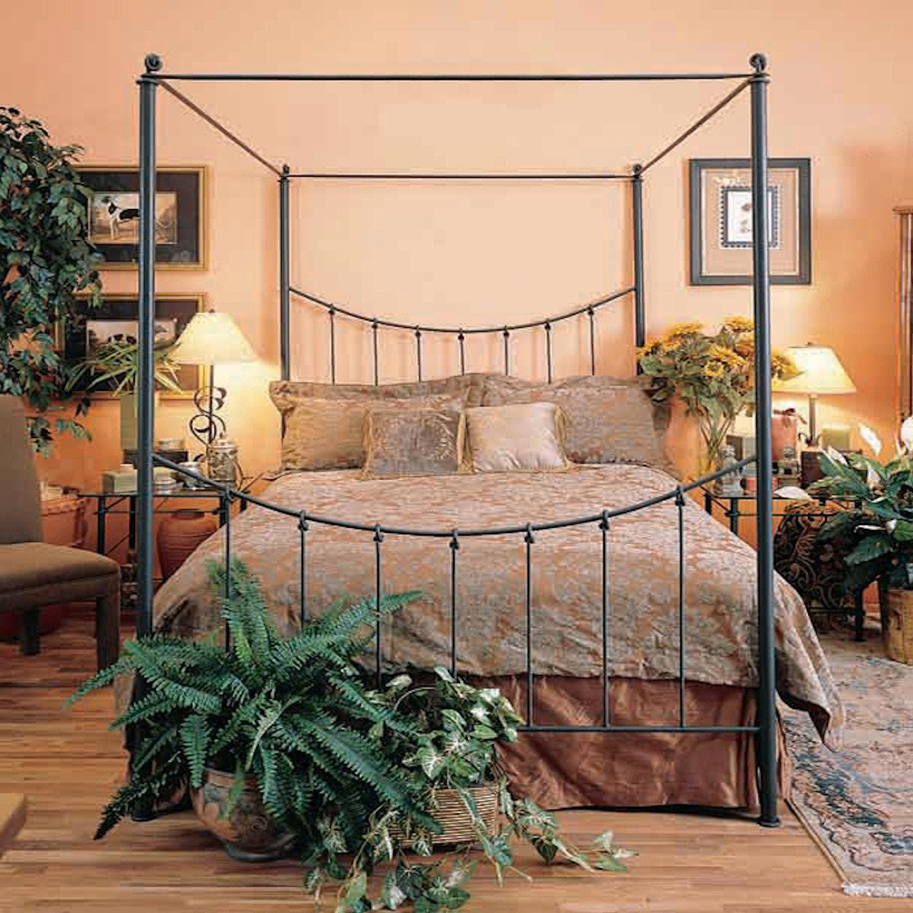 Stone County Knot Canopy Queen Bed