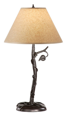 Stone County Ironworks 901-653 Sassafras Iron Table Lamp (parchment shade) - Peazz.com