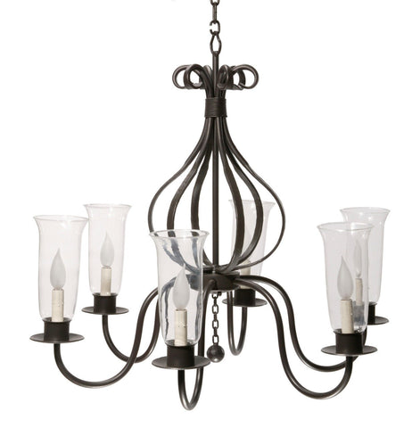 Stone County Ironworks 902-703 Williamsburg Carriage 6 Arm Chandelier - Peazz.com