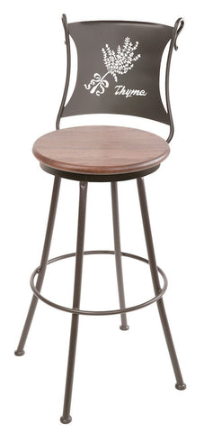 "Stone County Ironworks 902-780-OXB Thyme Barstool 30"" (with swivel) - BarstoolDirect.com"