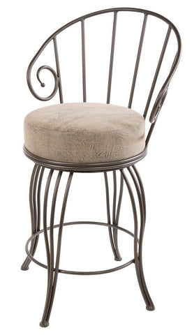 "Stone County Ironworks 902-860-FDB Bella Barstool 25"" (with swivel) - BarstoolDirect.com"
