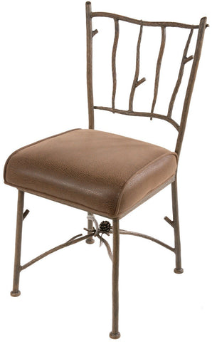 Stone County Ironworks 902-863-FBRP Pine Side Chair (with natural bark finish) - Peazz.com
