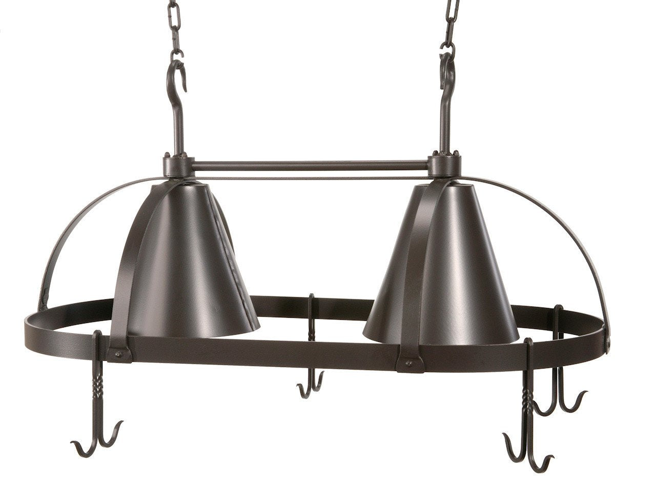 Stone County Dutch Lighted Pot Rack Oval