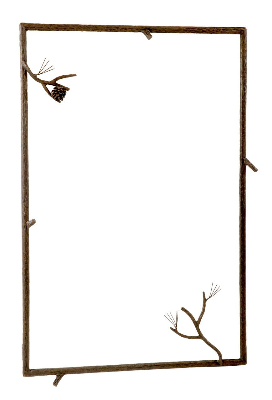 Iron Wall Mirror Hand Rubbed Bronze 16741 Product Photo