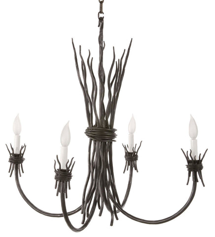 Stone County Ironworks 904-132 Rush 4 Arm Chandelier - Peazz.com