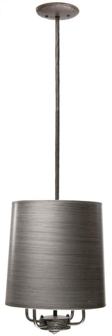 Stone County Ironworks 904-208 Cedarvale 4 Arm Pendant Lamp (pewter shade) - Peazz.com