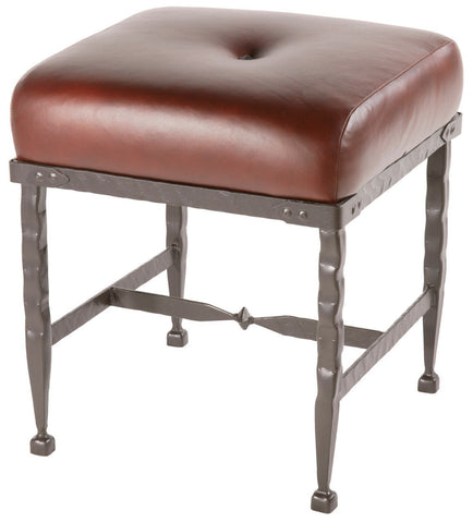 Stone County Ironworks 904-225-LPC Forest Hill Foot Stool - BarstoolDirect.com