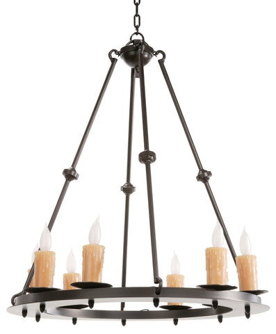 Stone County Ironworks 904-226 Nova 8 Light Chandelier - Peazz.com