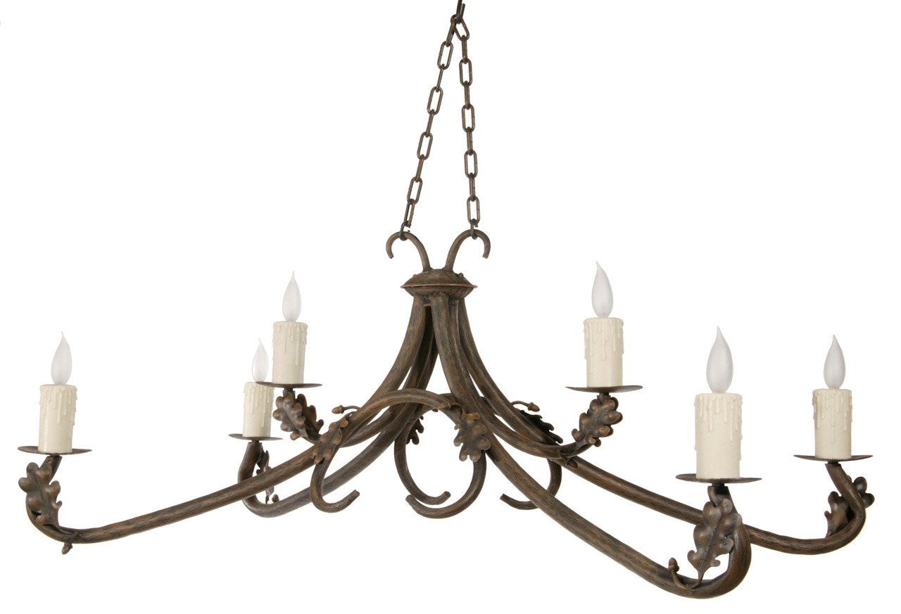 Stone County Arm Chandelier Hand Rubbed Bronze Oakdale
