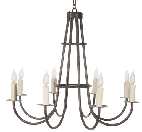Stone County Ironworks 904-438 Cedarvale 8 Arm Chandelier - Peazz.com