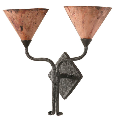 Stone County Ironworks 904-451 Cedarvale Double Wall Sconce (copper shades) - Peazz.com