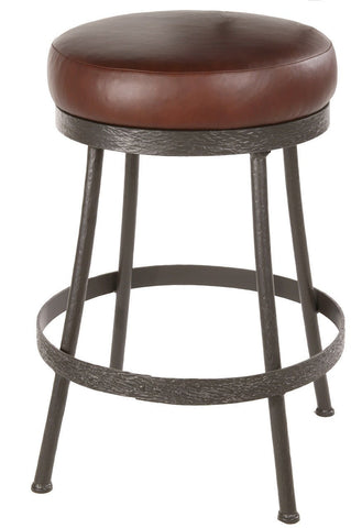 "Stone County Ironworks 904-461-LPC Cedarvale Barstool (No Back) 25"" (with swivel) - BarstoolDirect.com"