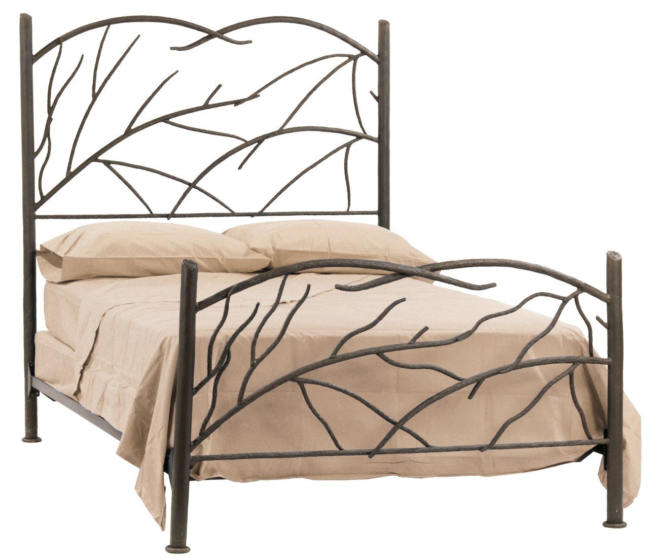 California King Bed Hand Rubbed Bronze Norfork