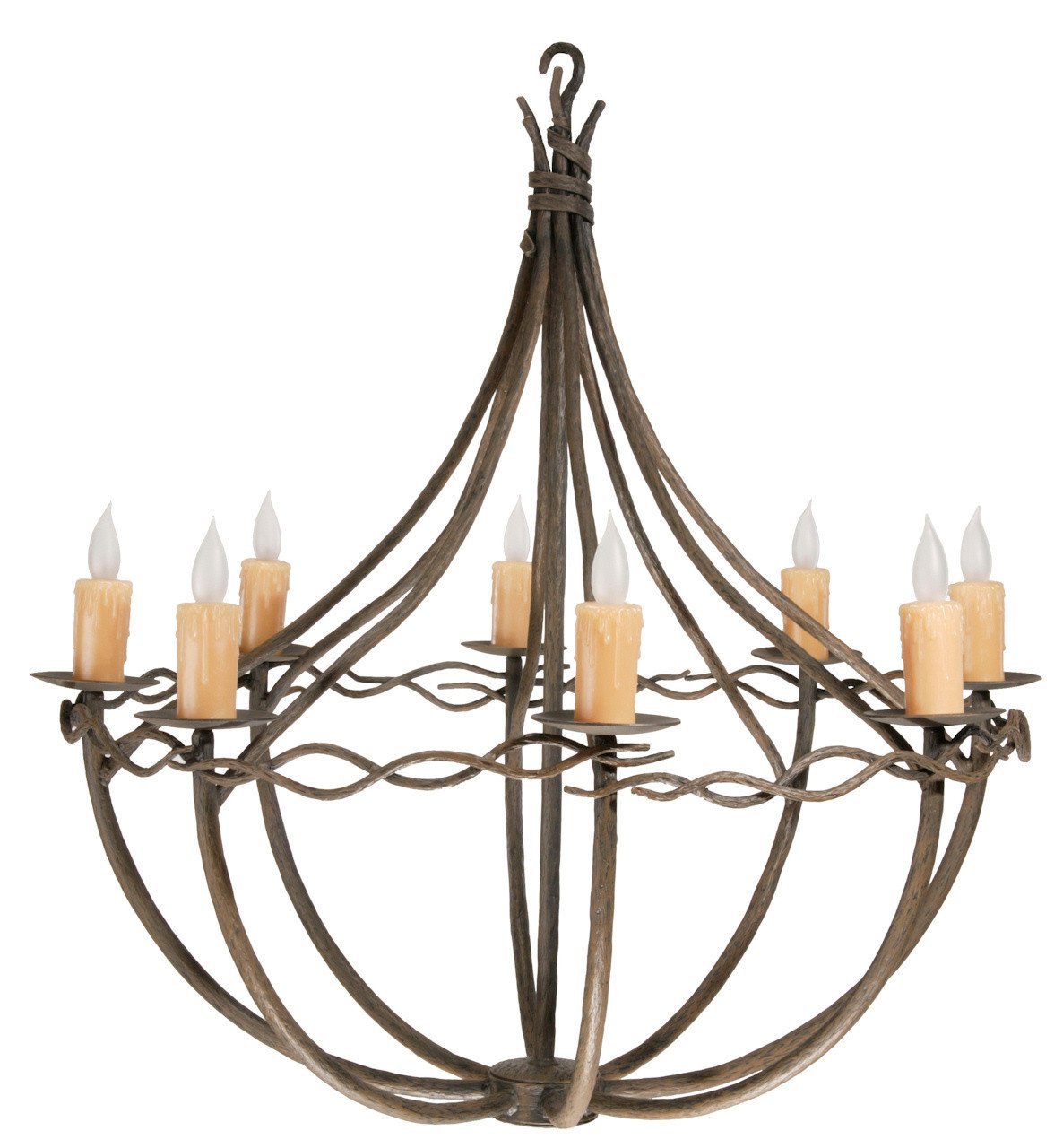 Arm Chandelier Hand Rubbed Bronze Norfork