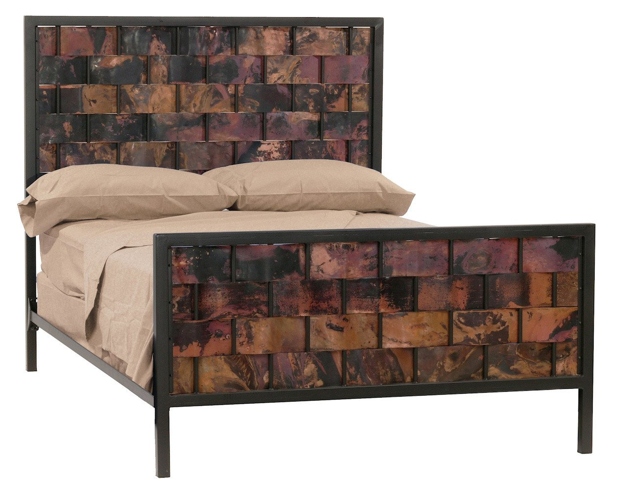 Stone County California King Iron Bed Copper Rushton Bed Image