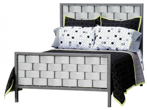 Stone County Ironworks 905-763-GAL Rushton Queen Iron Bed Galvanized - Peazz.com