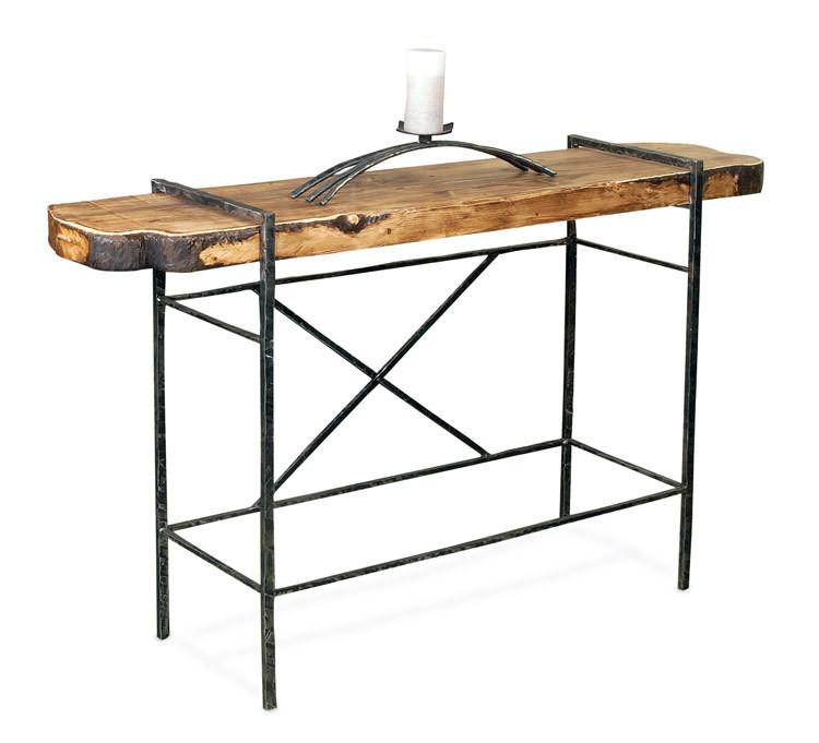 Table Design Console Table Natural Hand Bark Top Studio Photo