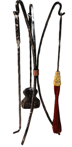 Stone County Ironworks 906-042-RST Studio Series Standing Fire Tool Set (natural Iron) - Peazz.com