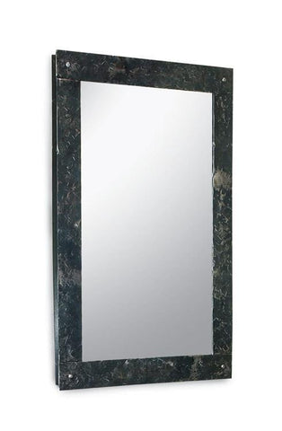 "Stone County Ironworks 906-061 Studio Series Mirror (natural iron) 18""x30"" - Peazz.com"