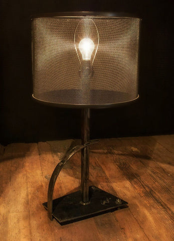 Stone County Ironworks 906-114 Cardiff Table Lamp (natural iron finish) - Peazz.com