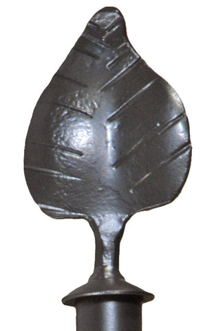 Stone County Ironworks 907-026 Leaf Curtain Finial - Peazz.com
