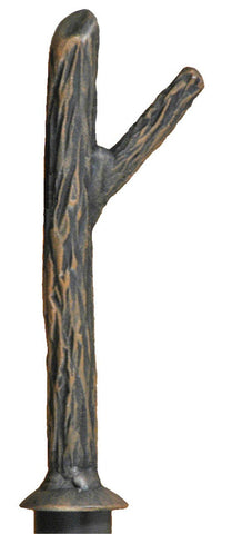 Stone County Ironworks 907-033 Iron Curtain Finial Norfork (hand rubbed bronze) - Peazz.com