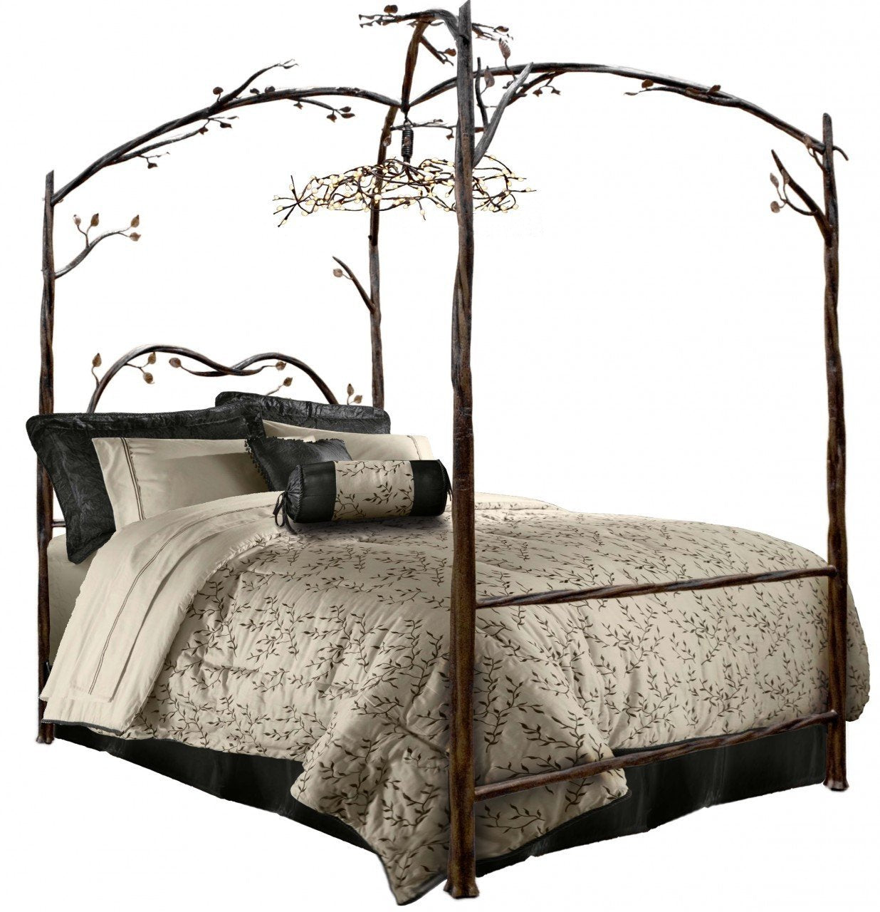 Canopy Bed Hand Rubbed Copper Accent California King