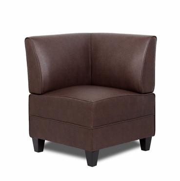 Boss Office Products BRS13C-BB Boss Bomber Brown Reception Sectional Corner Sofa - Peazz.com