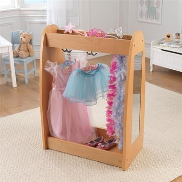 KidKraft 12421 Dress Up Unit - Natural with Hooks - Peazz.com