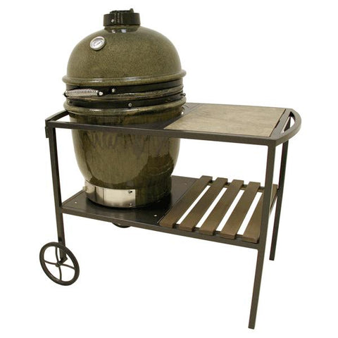 Bayou Classic Ceramic Cypress Grill W/ Table Cart