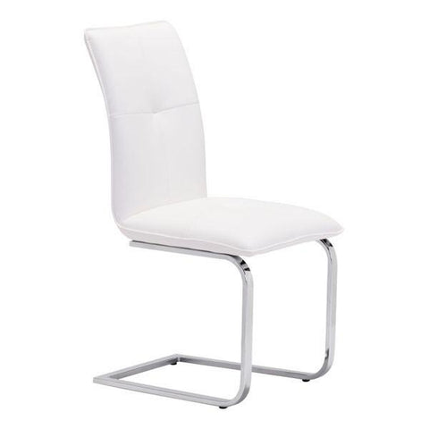 Zuo 100121 Anjou Dining Chair White - Set of 2 - Peazz.com