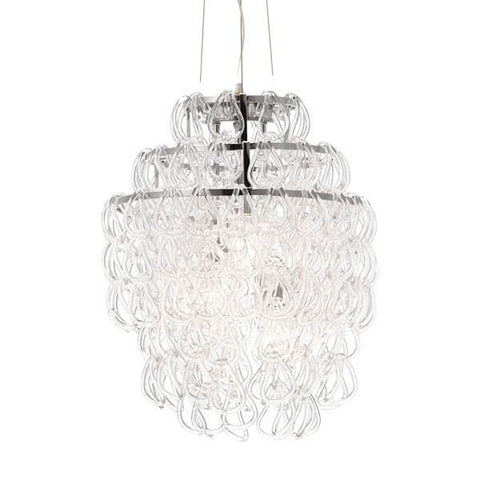 Zuo 50030 Cascade Ceiling Lamp Clear - Peazz.com