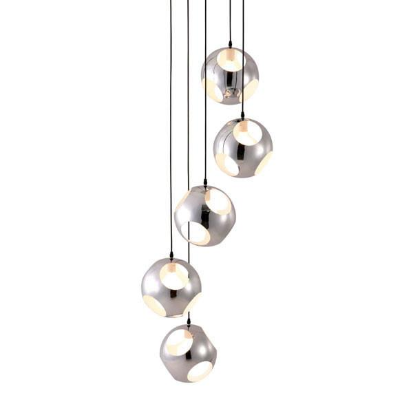 Zuo Shower Ceiling Lamp Chrome Meteor