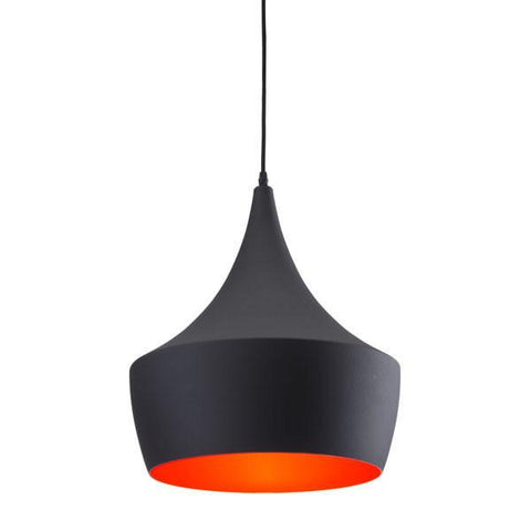 Zuo 98247 Copper Ceiling Lamp Matte Black - Peazz.com - 1