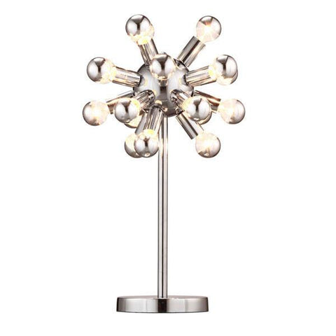 Zuo 50007 Pulsar Table Lamp Chrome - Peazz.com