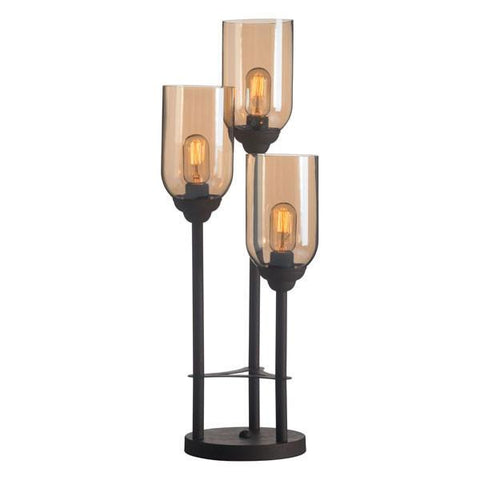 Zuo 50301 Jump Table Lamp Rust & Amber - Peazz.com