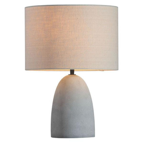 Zuo 50500 Vigor Table Lamp Beige & Concrete Gray - Peazz.com