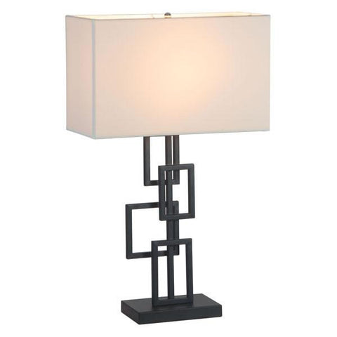 Zuo 50303 Step Table Lamp White & Black - Peazz.com