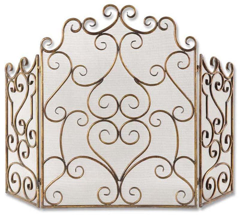 Uttermost 20467 Kora Metal Fireplace Screen - UTMDirect