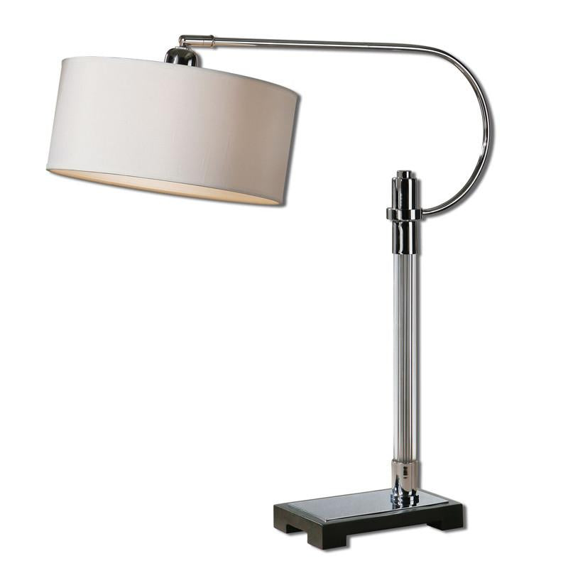 Uttermost | Chrome | Glass | Desk | Lamp